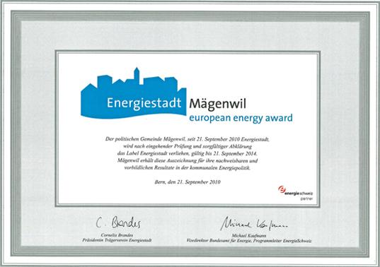 Energiestadt Label-Auszeichnung