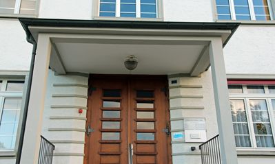 Eingang Gemeindehaus